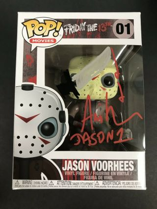Ari Lehman Autograph Signed Sketch Friday The 13th Funko Pop Jason Beckett Bas