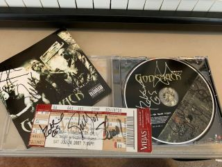 "Autographed Godsmack "" Awake "" Cd Plus One Autographed Ticket"