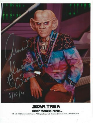 Armin Shimerman Signed & Inscribed Star Trek Deep Space Nine Promo 8x10 Photo 1