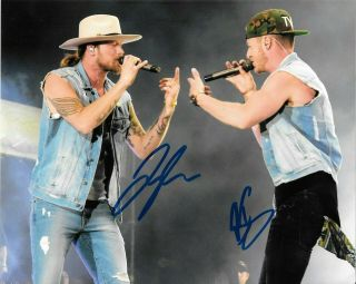 Florida Georgia Line Tyler Bk Country Stars Signed Autographed 8x10 Photo