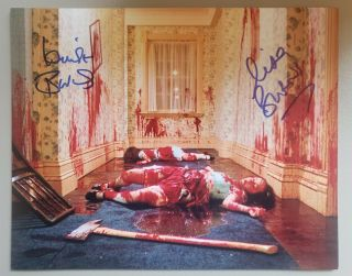 "Lisa And Louise Burns Signed 8x10 "" The Shining """