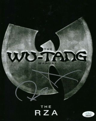 Rza Of Wu Tang Clan Sybol Signed 8x10 Photo (jsa Authenticated)