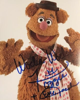 Fozzie Bear The Muppets Eric Jacobson Signed Autographed 8x10