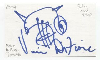 Vince Difiore Signed 3x5 Index Card Autographed Signature Trumpet Band Cake