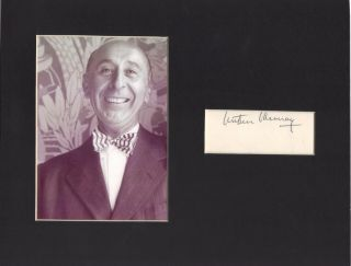 Arthur Murray Signed Matted With Photo 8x10 11/15