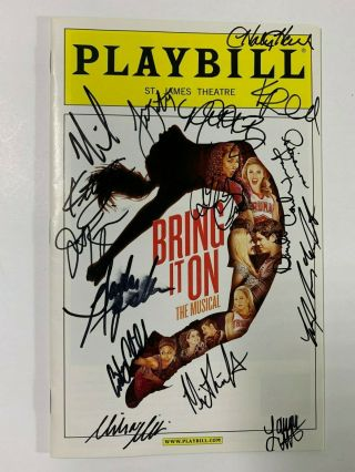 Bring It On The Musical Cast Signed Opening Night Playbill Taylor Louderman