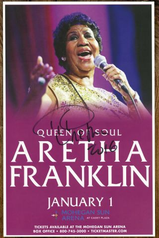 Aretha Franklin Autographed Gig Poster Queen Of Soul