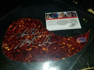Garth Brooks Signed Autographed Guitar Pick Guard With Pic Country