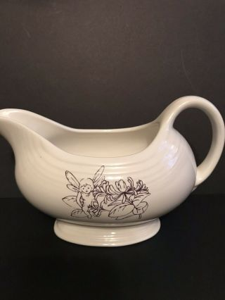 Fiesta Fiestaware Sugar Plum Fairy Sauce Gravy Boat Server Rare Scarce - Purple