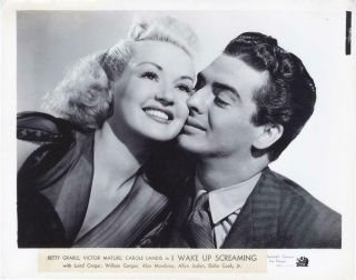 """"""" I Wake Up Screaming """" - Photo - Betty Grable - Victor Mature - Noir - Portrait"""