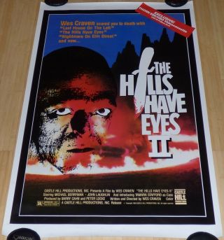 The Hills Have Eyes Ii Rolled Vhs Home Video Movie Poster Horror