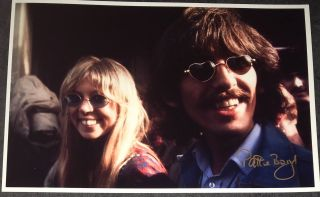 Pattie Boyd Signed Photo Rare The Beatles George Harrison Something