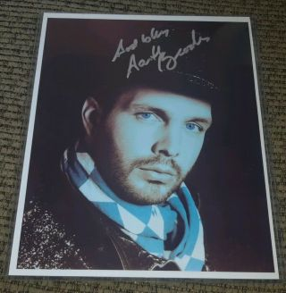 """ God Bless "" Garth Brooks Signed Autographed 8x10 Photo W Gold Sharpie Marker"