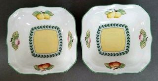 "(2) Villeroy & Boch French Garden Fleurence 5 3/4 "" Square All - Purpose Bowls Nwt"