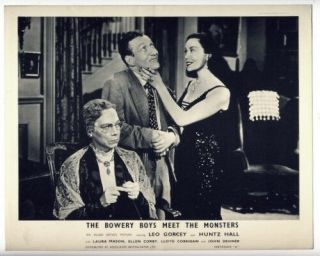 Bowery Boys Meet The Monsters 1954 - Vintage B/w 8x10 Lobby Card