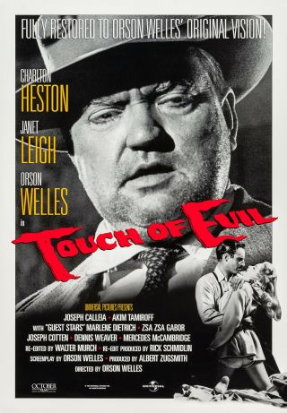 Touch Of Evil (1958) Movie Poster - Re - Release 1998 - Rolled
