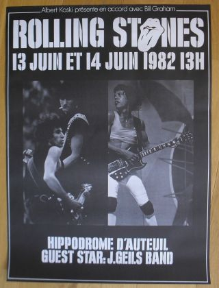 Rolling Stones French Concert Poster