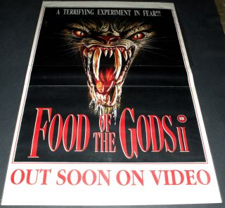 Gnaw - Food Of The Gods Ii 1989 British 40x60 Video Release Poster