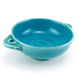 Fiesta Turquoise Footed Cream Soup Bowl Vintage