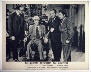 Bowery Boys Meet The Monsters 1954 - Vintage B/w 8 X 10 Lobby Card