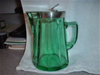 Antique Heisey Syrup Pitcher Moongleam Green Color