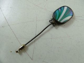 Vintage 1978 Orient & Flume Art Glass Sterling Silver Stick Pin Chico Ca Retro