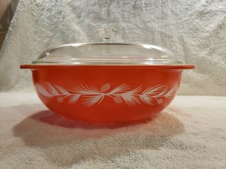 "Antique Promo "" Holiday Cassarole "" Pyrex Dish,"