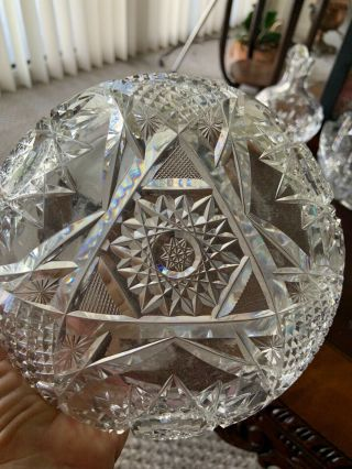 Antique Hawkes American Cut Glass Heavy Crystal Bowl