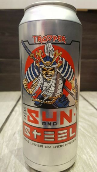 Iron Maiden Trooper Beer Sun And Steel.  Extremely Rare Can 500ml Size.