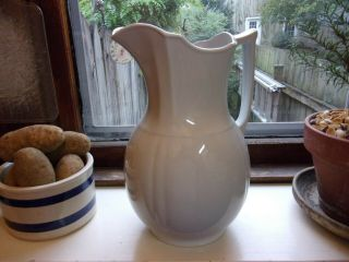 Lovely Antique White Ironstone Alfred Meakin England Pitcher Farmhouse
