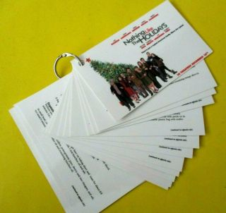 Nothing Like The Holidays Movie Promo 16 Recipes Laminated On Keyring Rare 2008