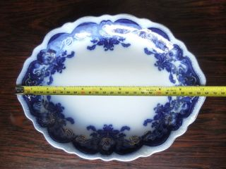 Antique Flow Blue Gold Oval Platter Oregon Pattern By Johnson Bros England - Exc