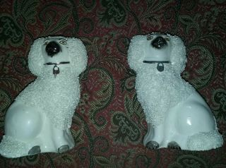 "Small Antique "" Coleslaw "" Staffordshire Poodles"