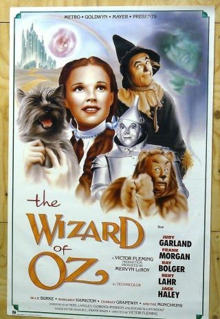 The Wizard Of Oz - 22x35 Movie Poster 1989 Release - Judy Garland