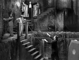 Abbott And Costello Meet Frankenstein,  Dracula In This Classic Scene 8x10