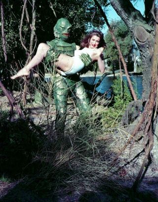 Creature From The Black Lagoon Julie Adams 8x10 Color Photo 1aa