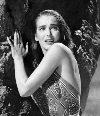 Creature From The Black Lagoon Julie Adams Poses On The Boat 8x10 3a