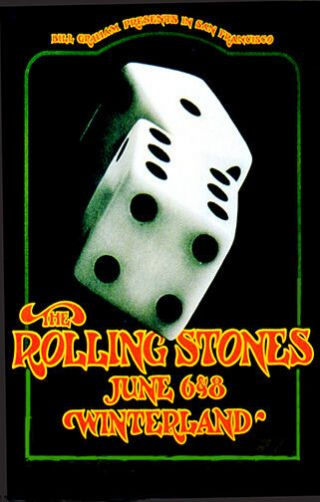 The Rolling Stones 1972 Concert Poster