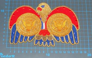 Belt Buckle Elvis Presley Jumpsuit Cape American Eagle Costume Embroidery Patch