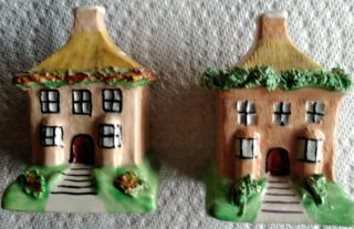 2 Antiques Staffordshire English Pottery Bank House