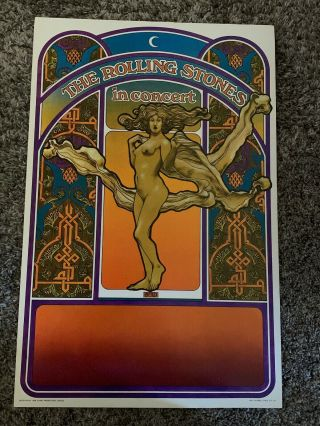 Vintage 1969 The Rolling Stones In Concert Poster 21 1/2 X 14