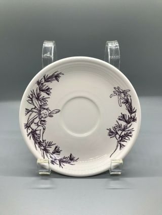 Fiesta Sugar Plum Fairy On White Saucer | Fiestaware Retired Outlet Exclusive