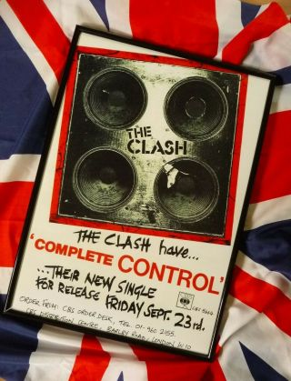 The Clash 1977 Poster