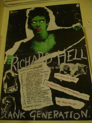 Richard Hell And The Clash 1977 Poster