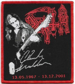 Death Chuck Schuldiner - Limited Edition Patch - Woven Sew On Patch - Freeshipping