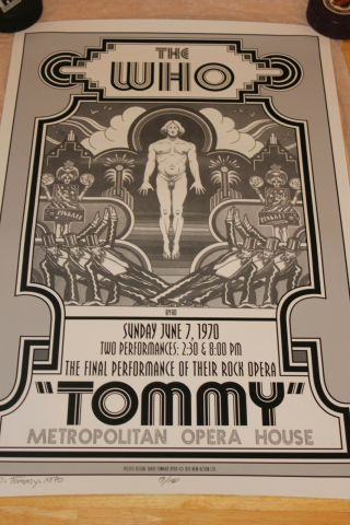 "The Who "" Tommy "" Metropolitan Opera House 1970 - Hand Signed"