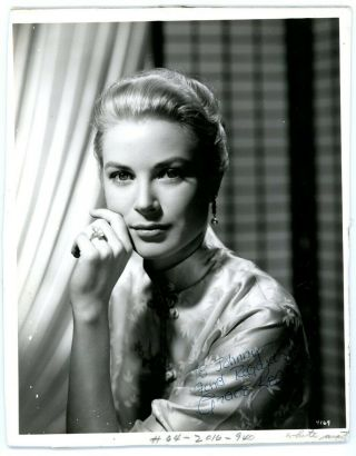 Grace Kelly Vintage 1950s Signed Gorgeous Photograph Autograph Jsa