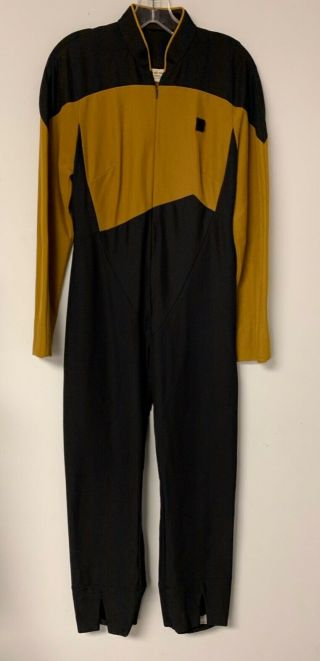 Star Trek Prop Costume Tng Next Generation Gold Screen