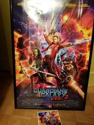 Guardians Of The Galaxy Vol 2 Cast Signed Poster