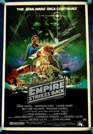 Star Wars Empire Strikes Back 1980 Australian One Sheet Movie Poster